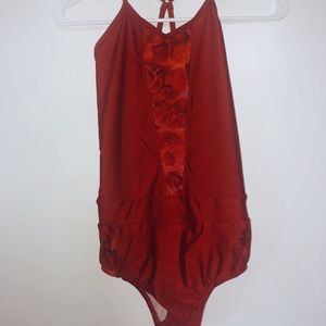 FIVEDANCEWEAR red leo with roses